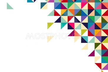 Abstract, geometric background, triangle and square,...