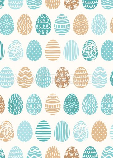 Easter eggs ornaments pattern