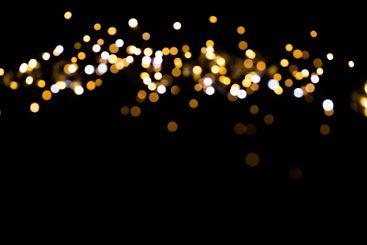 glitter lights on black background