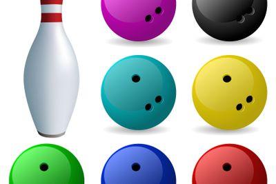 Set of balls. Bowling