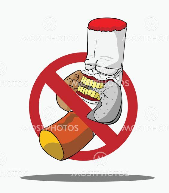 Cartoons No Smoking Sign By Piyapun Wannakul Mostphotos