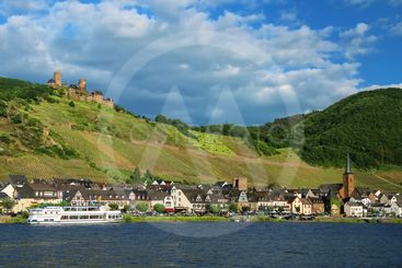 Alken town on Moselle River in Rhineland-Palatinate,...