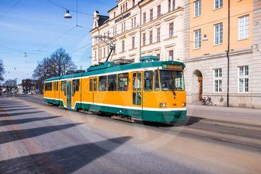 Spårvagn på Drottninggatan i Norrköping