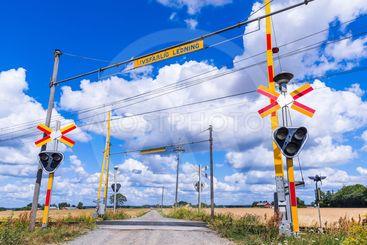 Järnvägsövergång vid Önnestad i Skåne