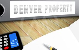 Denver Real Estate Folder Illustrates Colorado Property...