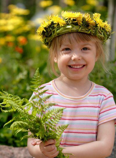cute little summer girl
