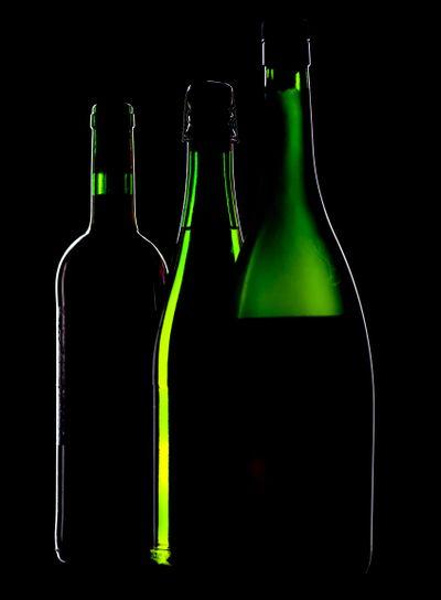 bottle on black