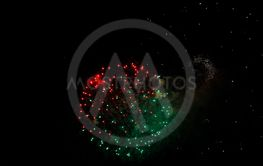 Celebration firework in the black night sky