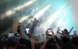 Enter Shikari alternative rock band performs on stage