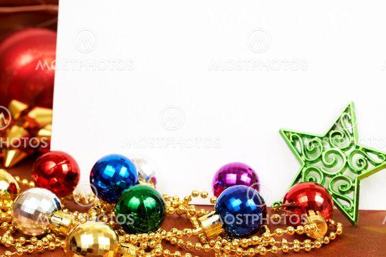 Värikkäitä joulua baubles ja tähti