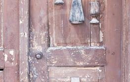 old door, wine cellars, Villanykovesd, Hungary
