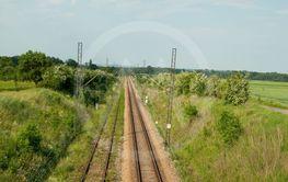 empty track of railway
