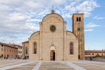 Ancient church in Concordia Sagittaria in Veneto, Italy