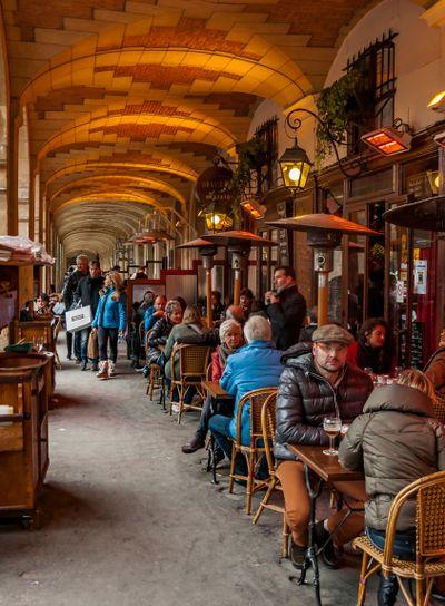 Typical Paris cafe