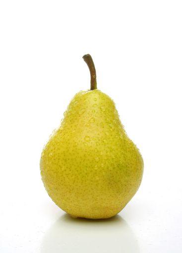 One yellow pear