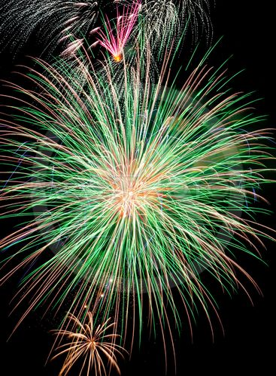 Green Firework Burst