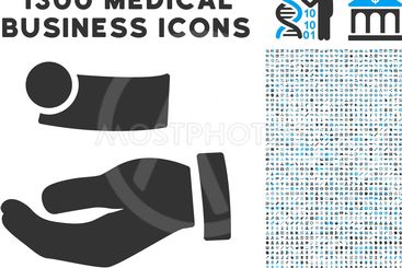 Cash Payment Hand Icon with 1300 Medical Business Icons