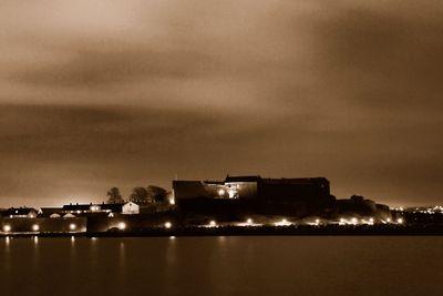 Varberg by night