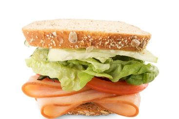 Hearty Sandwich Isolated on White