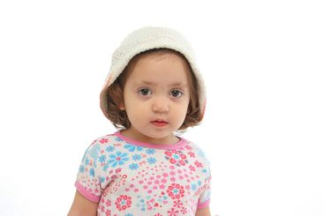 Little girl with a beautiful expression
