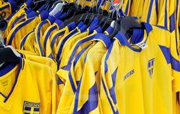 Swedish soccer shirts