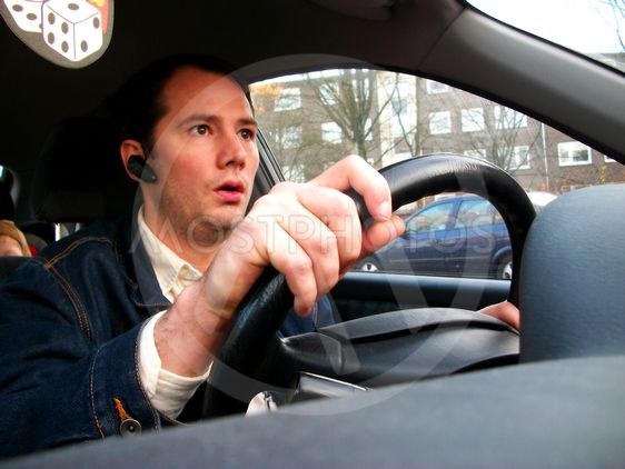 The scared driver