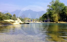 Nam Song River in Vang Vieng. Laos