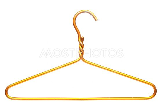 metallic clothes hanger