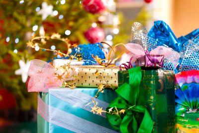 Christmas gifts under x-mas tree