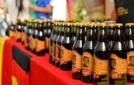 Bottles of beer at Beerfest by former German settlers in...