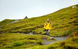 Tourist in Faroe islands