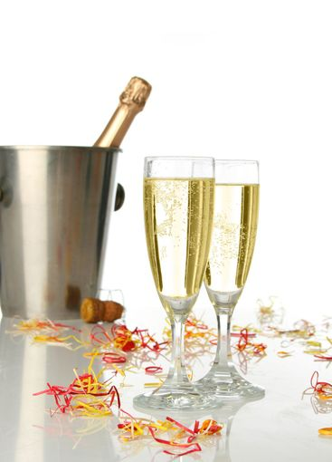 Celebration with champagne