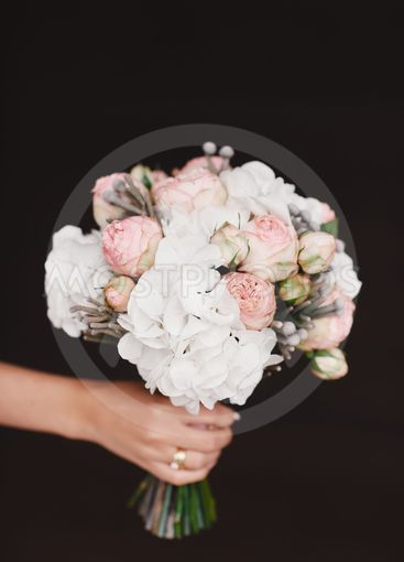beautiful wedding bouquet. Stylish wedding bouquet bride...