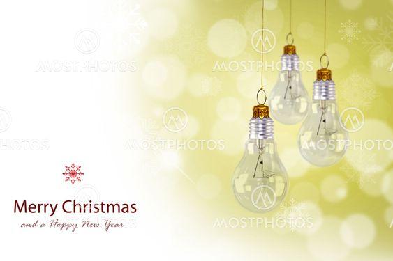 Light bulb christmas decoration
