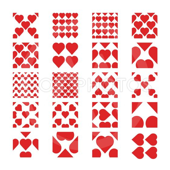 Patterns of heart seamless.
