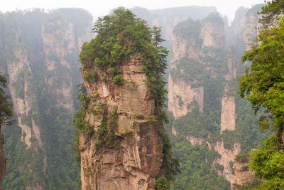 Rock mountain in Zhangjiajie.