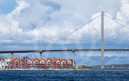 Bridge and modern buildings in Stavanger, Norway.