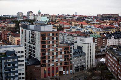 Utsikt över Sundbybergs torg