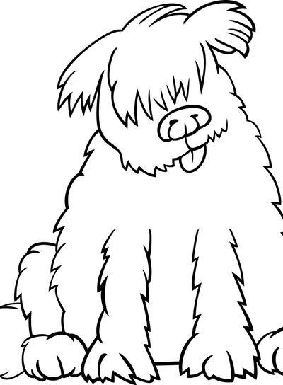 newfoundland dog cartoon for coloring book