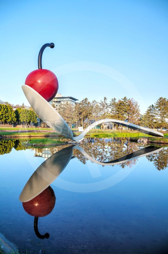 The Spoonbridge and Cherry at the Minneapolis Sculpture...