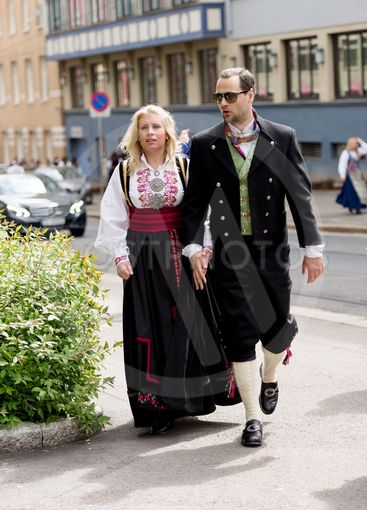 Norwegian Constitution Day dressed couple