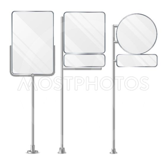3D Blank Boards On Poles For Placing Price And Business...