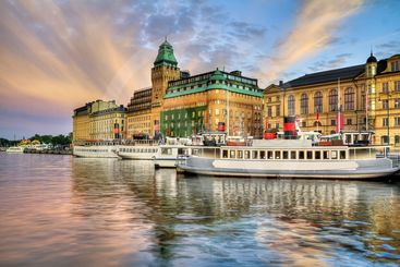 Old boats in Stockholm.