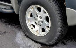 dusty flat tire