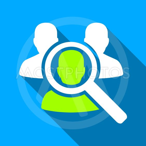 Search Patient Flat Long Shadow Square Icon