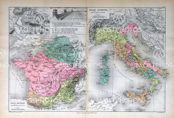 Gammal Karta Italien.Italien Frankrike Gammal Av Michael Roberts Mostphotos