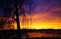 Solnedgång Tegeludden
