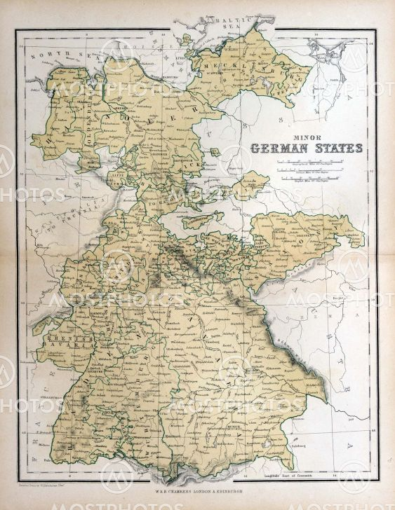 Map Of Germany 1870.Old Map Of Germany 1870 By Michael Roberts Mostphotos
