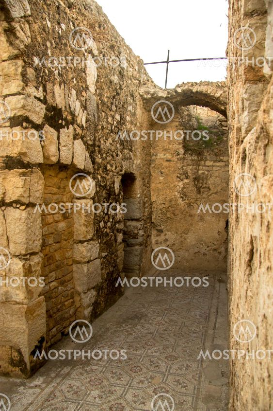 Inside of Bulla Regia, Tunisia. Antic Roman ruins