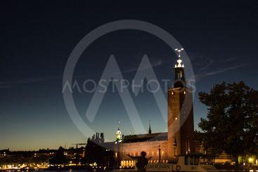 Solnedgång i Stockholm